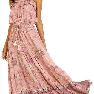 Wild Bloom Strappy Midi Dress - Blush